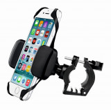 Suport magnetic pentru telefon Swissten S-GRIP BCCL1, instalare pe ghidon, rotire 360 grade, negru