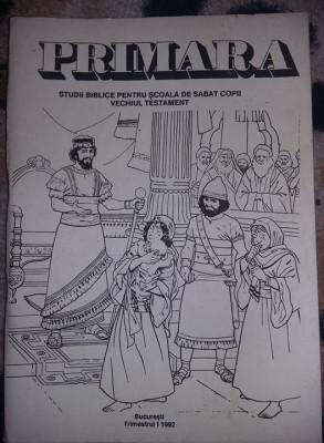 Carte 1992,PRIMARA,Sudii biblice,Scoala de SABAT,VECHIUL TESTAMENT,T.GRATUIT foto