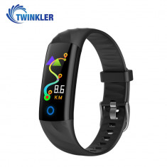 Bratara fitness inteligenta TKY-S5 cu functie de monitorizare ritm cardiac, Tensiune arteriala, Monitorizare somn, Pedometru, Notificari, Iluminare LE