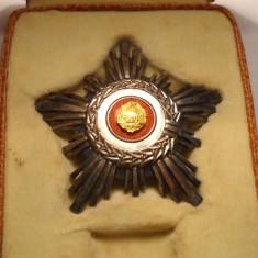 Ordinul Steaua Romaniei Clasa a 5 a RSR la Cutie Piesa de Colectie
