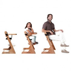 Scaun de masa din lemn Advance 2 in 1 cu husa White