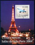 SAO TOME 2004 AVIATIE EXPOZITIA DIN PARIS, Nestampilat