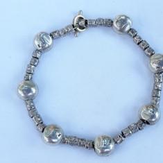 BRATARA argint cu BULBI intercalati SPLENDIDA de efect MASIVA retro VINTAGE
