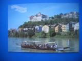 HOPCT 55413 BURGHAUSEN CETATEA -VAPOR TURISTI-GERMANIA-STAMPIULOGRAFIE-CIRCULATA