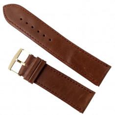 Curea de ceas din piele naturala maro 24mm C3122