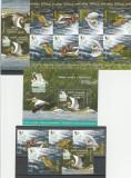 ROMANIA, 2012 LP 1945, PASARI ACVATICE SERIE TETE-BECHE,BLOC + SERIE,MNH., Fauna, Nestampilat