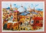 Ierusalim, Orasul Vechi - vedere partiala. Dupa David Harel - Necirculata, Israel, Printata