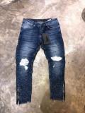 Blugi Barbati Blue Degradee Zipper Gosse