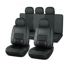 Set huse scaune auto Audi A2 din piele ECO, fata si spate, ortopedice, culoare negru