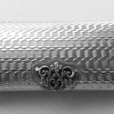 Tabachera dama din argint masiv pentru 6 țigarete