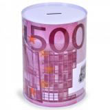 Cumpara ieftin Pusculita metalica cu imprimeu 500 euro, Lioness, 12 x 16 cm