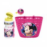 Set accesorii pentru bicicleta Disney Minnie Mouse, Roz