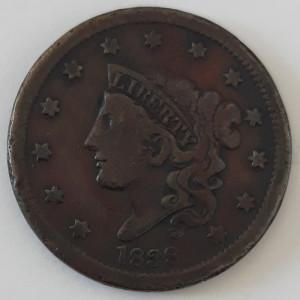 1 cent SUA/USA 1838