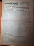 sportul popular 12 martie 1953-fotbal,grivita rosie-flacara ploiesti,cros,sah