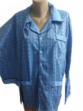Pijama barbati cu maneca lunga cu nasturi si pantaloni lungi cod 190