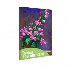 Tablou fosforescent Campanule roz