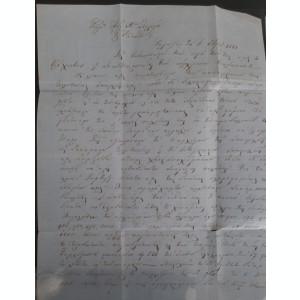 Moldova 1861 Scrisoare circulata francata cu Cap de Bour 80 par. T3. RARITATE!!!