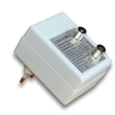 Amplificator Semnal TV, 20 dB, 76 Ohm, benzile FM / VHF / UHF foto