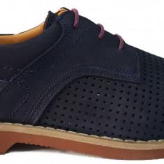 Pantofi barbati casual perforati din piele cu siret Otter 4438