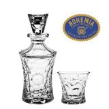 Cumpara ieftin Set 6 pahare si Sticla whisky Molecules - Cristal Bohemia Cod Produs 52
