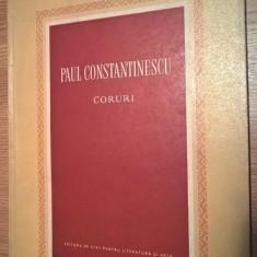 Paul Constantinescu - Coruri - partituri (ESPLA, 1955)
