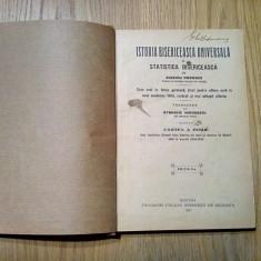 ISTORIA BISERICEASCA UNIVERSALA - Cartea II -a - Euseviu Popovici - 1927, 319p.