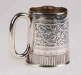 Halba,cana,pahar din argint masiv 925, Anglia an 1892, deosebita, Pahare