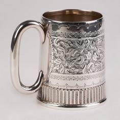 Halba,cana,pahar din argint masiv 925, Anglia an 1892, deosebita