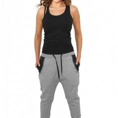 Pantaloni trening dama cu buzunar imitatie piele Urban Classics M EU