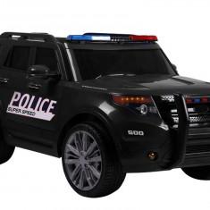 Masinuta electrica LeanToys SUV de politie, negru