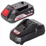 Cumpara ieftin Set Incarcator Si Acumulator, Raider 032120, Li-Ion, 20Vx2.0 Ah