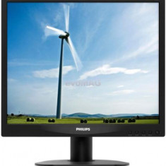 Monitor LED Philips 17inch 17S4LSB/00, VGA, DVI-D, 5ms, SmartImage (Negru)