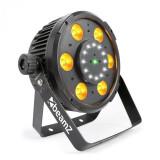 Cumpara ieftin Beamz BX100 PAR, reflector LED, 6x6 W, 4-v-1-RGBW-LED-uri, 12x LED-uri strobe, laser RG