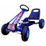 Cumpara ieftin Kart cu pedale Gokart 3-7 ani cu roti gonflabile G1 R-Sport - Albastru