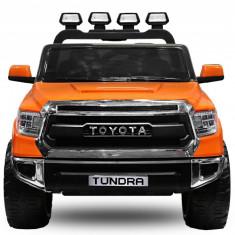 Masinuta electrica pentru copii Toyota Tundra 2x35W pentru 2 copii #Portocaliu