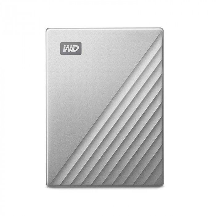 Hard disk extern WD My Passport Ultra for Mac 4TB 2.5 inch USB 3.1 Silver