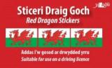 Sticeri Ddraig Goch / Red Dragon Stickers