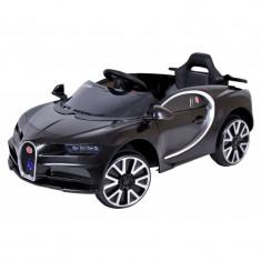 Masinuta electrica pentru copii, cabrio iluminat Led cu telecomanda, panou muzical, MP3, USB, AUX si MicroSD, Culoare Negru