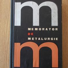 MEMORATOR DE METALURGIE- BENNO NACHBAR