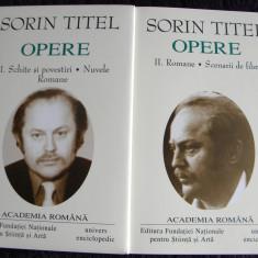 Sorin Titel - Opere (2 vol) Romane, Scenarii, Nuvele, editie lux Academia Romana