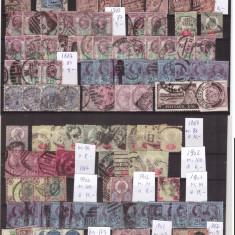 Marea Britanie - Lot timbre vechi, val catalog Mi peste 400EUR