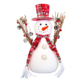 Cumpara ieftin Om de zapada decorativ, 30 cm, Alb/Rosu