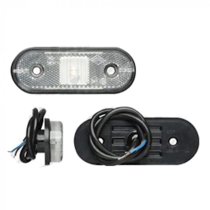 Lampa gabarit auto BestAutoVest 12/24V ovala Alba cu led, 120x67mm, 1 buc. Kft Auto