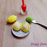 Lamie set 2 jumatati fruct jucari handmade bumbac