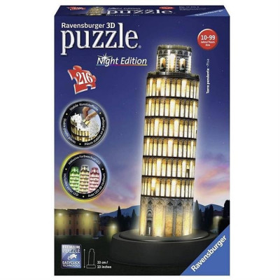 Puzzle Ravensburger Leaning Tower Of Pisa Night Edition 3D 216 Pcs foto