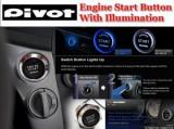 Kit buton pornire motor cu lumina rosie