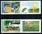 Romania 2007, LP 1784 a, Cupa Mondiala Rugby, serie cu viniete dreapta, MNH!
