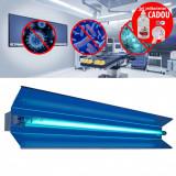 Cumpara ieftin Lampa bactericida UVC orientabila 55W cu reflector, control telecomanda cu temporizator fixare perete
