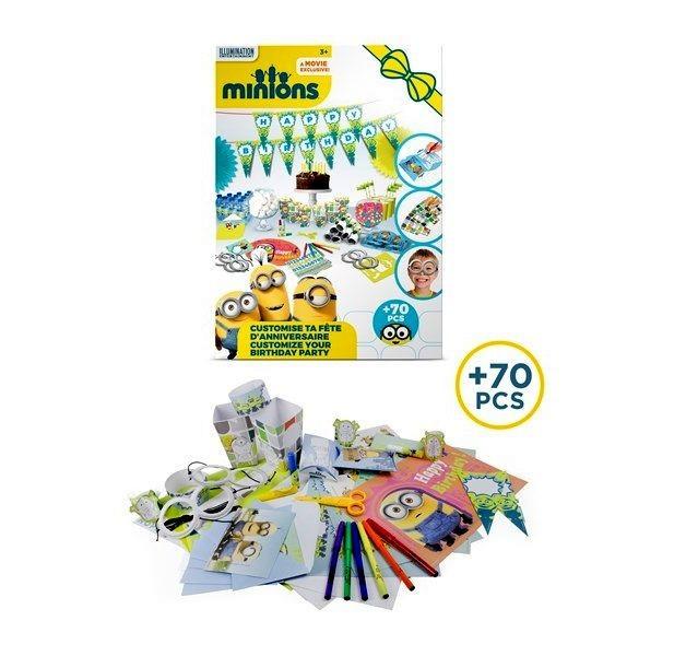 Set accesorii petrecere aniversare 70 piese Minions - D`Arpeje