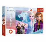 Puzzle Trefl Frozen 2 curajoasele surori, 30 piese